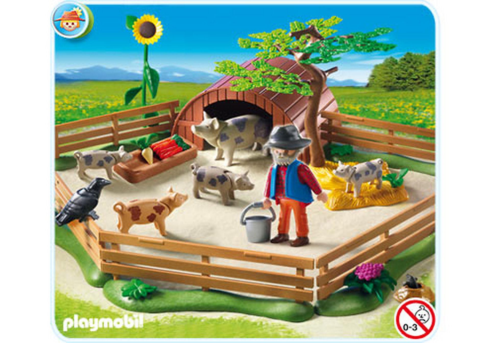 5122-A Fleckschweine im Gehege zoom image1