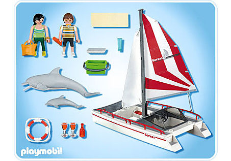 5130-A Katamaran mit Delfinen detail image 2