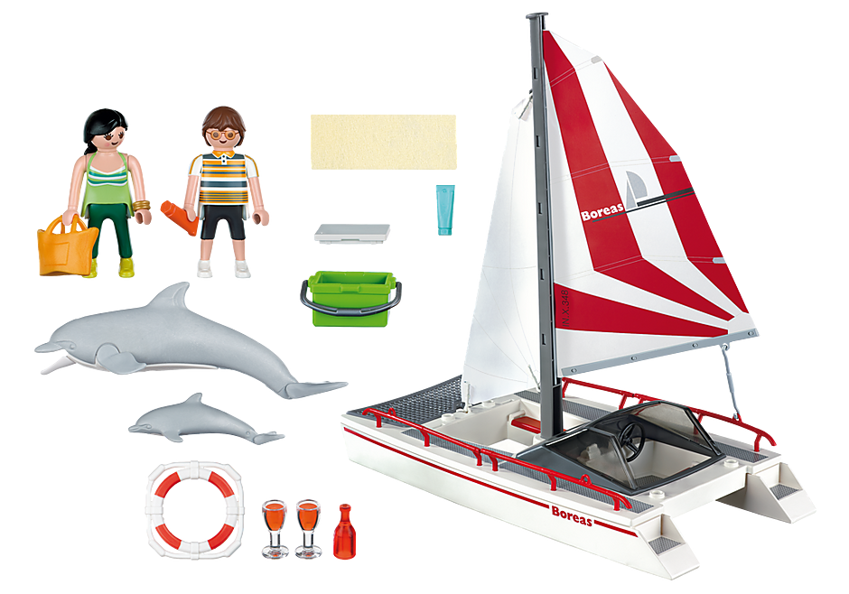 5130 Catamaran met dolfijnen detail image 3