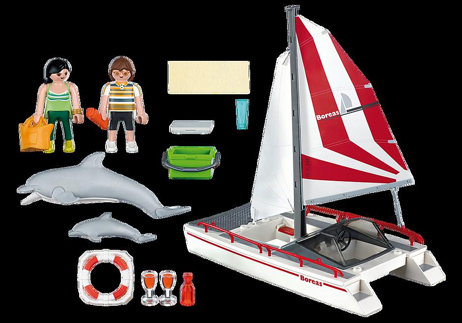 5130 Catamarano con delfini detail image 3