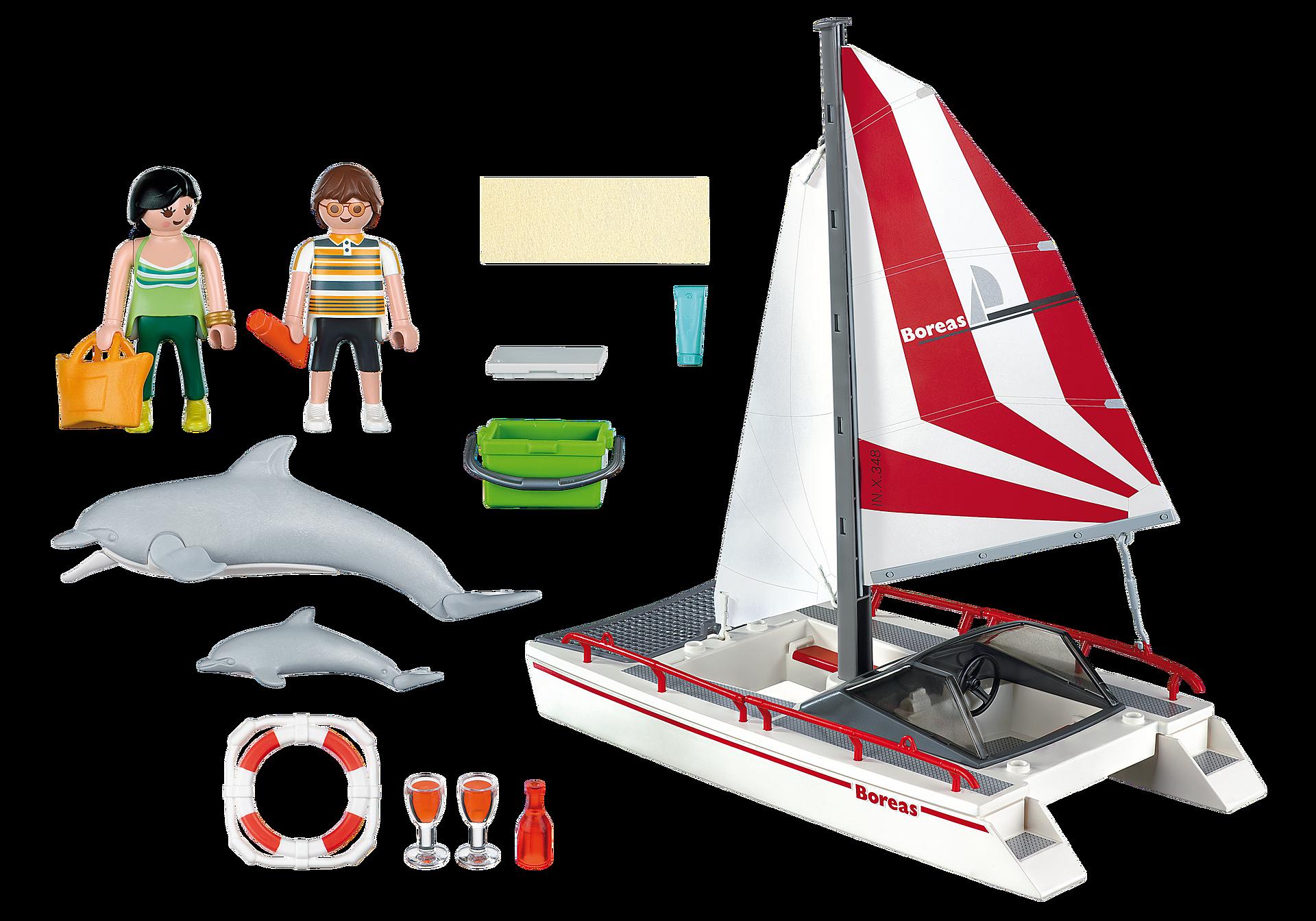 5130 Catamarano con delfini zoom image3