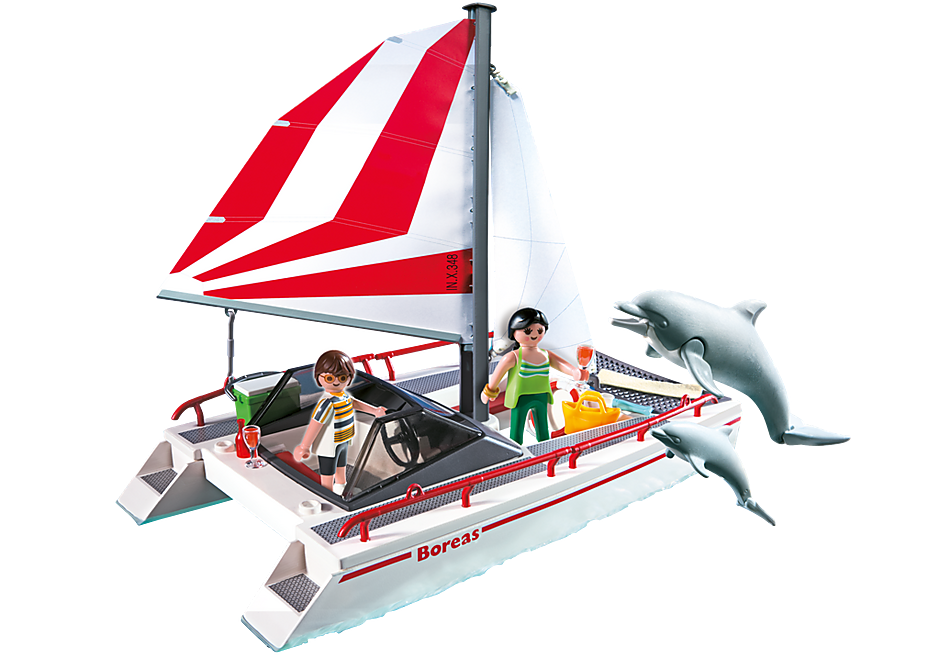 5130 Catamaran et dauphins  detail image 1