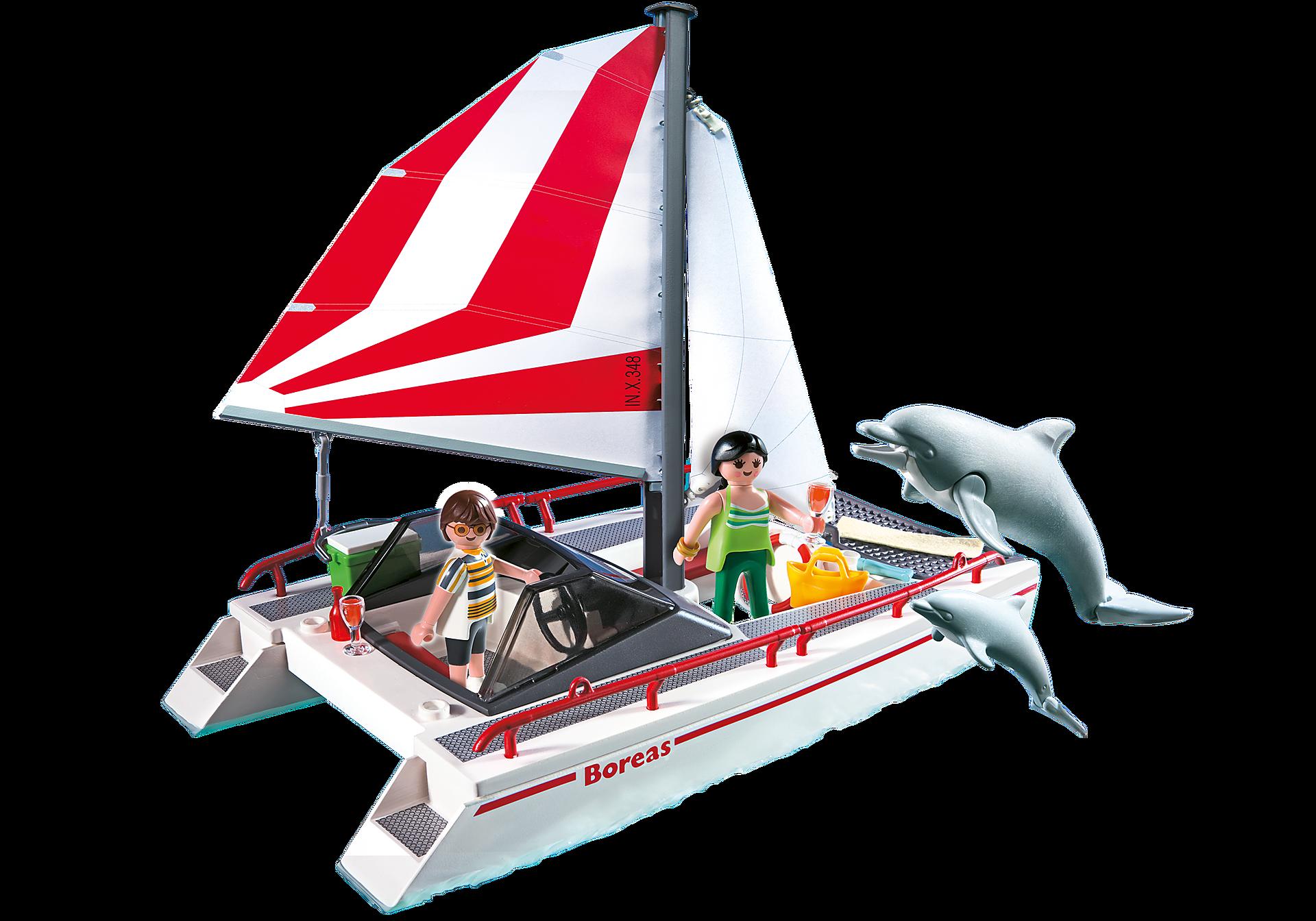 5130 Catamaran et dauphins  zoom image1