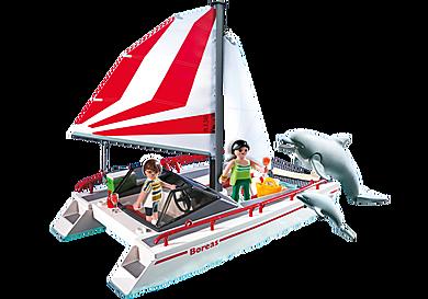 5130 Catamaran et dauphins
