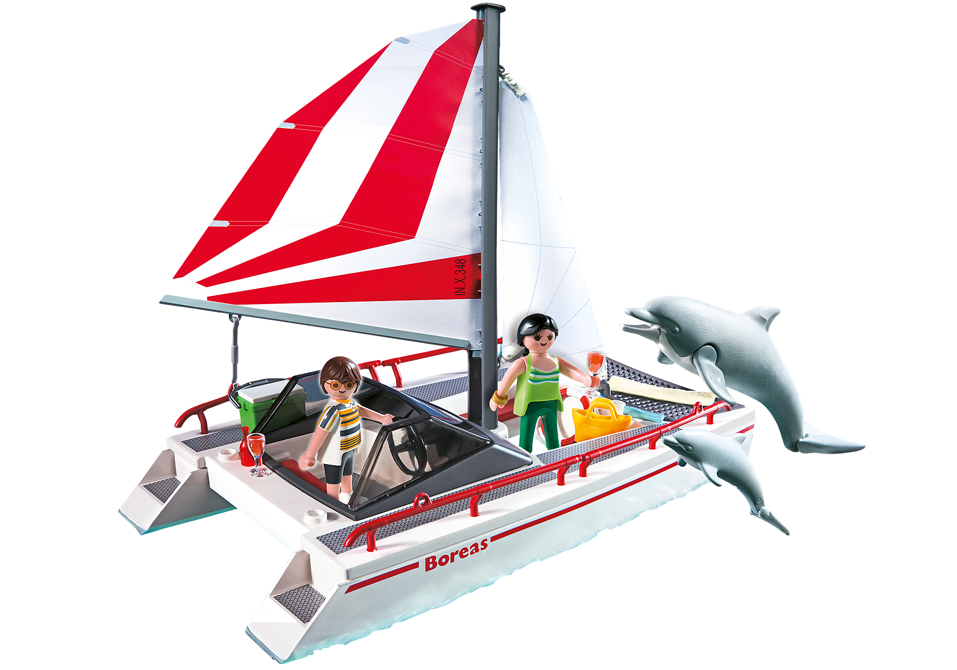 5130 Catamarano con delfini zoom image1
