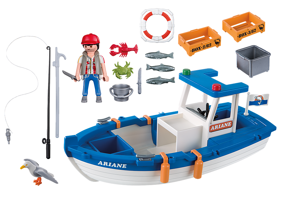 5131 Fisherman with Boat detail image 3