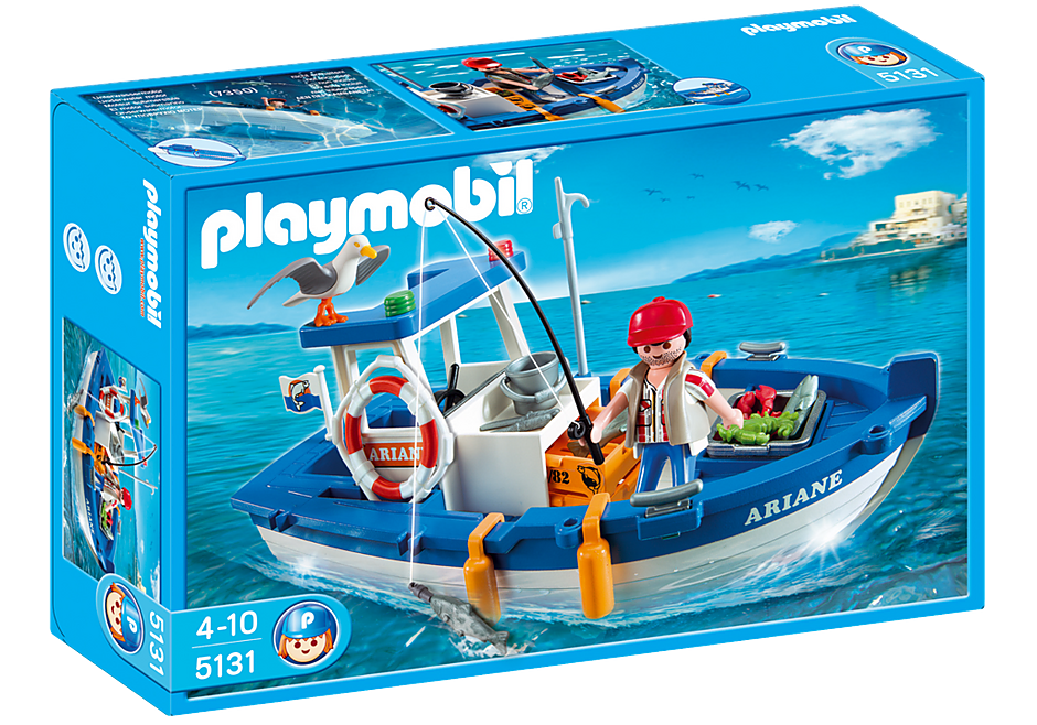 5131 Fisherman with Boat detail image 2
