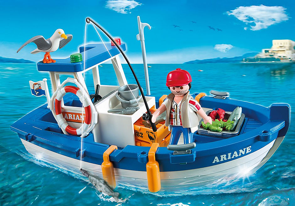 5131 Fisherman with Boat detail image 1