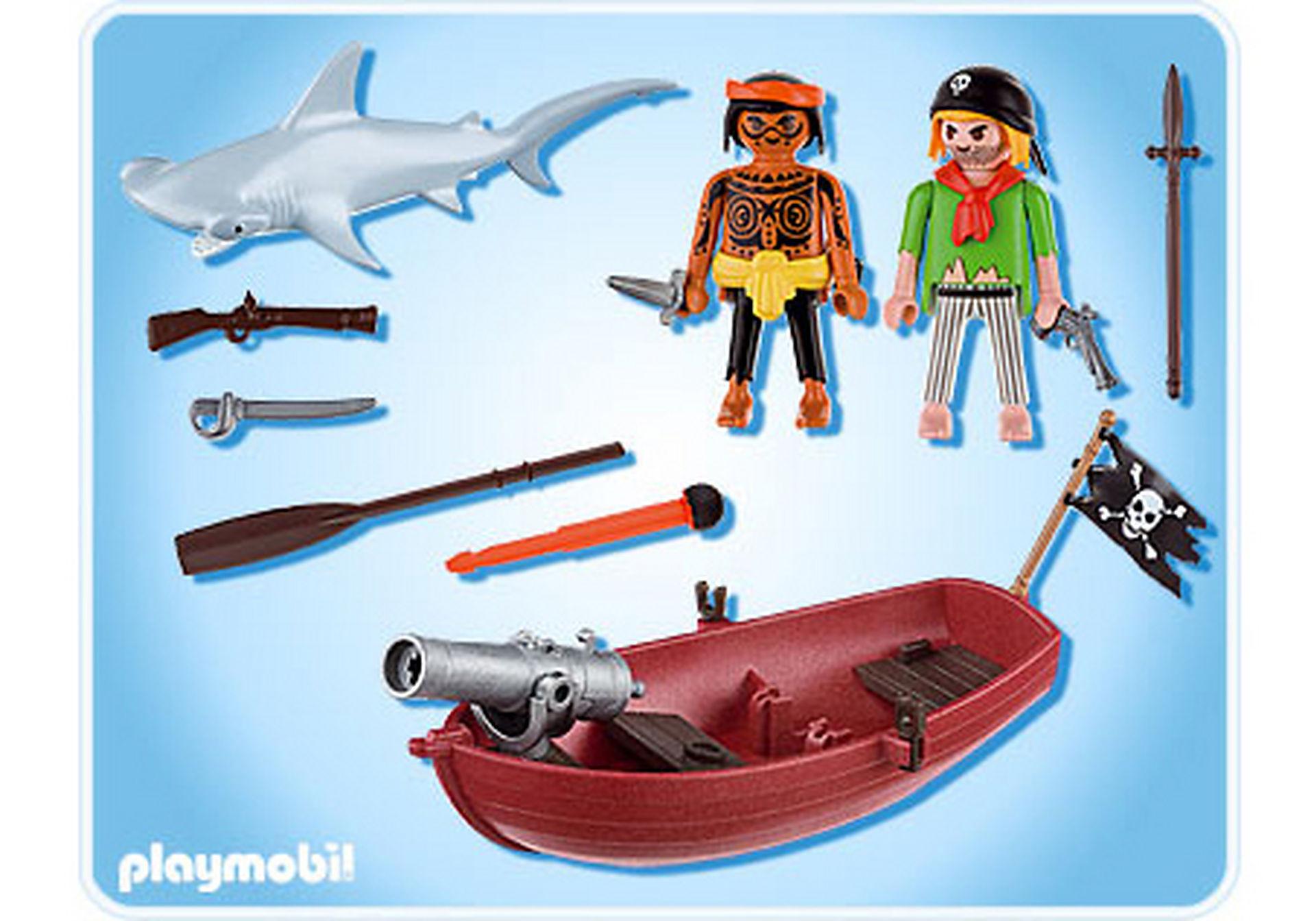 5137-A Piraten-Ruderboot mit Hammerhai zoom image2