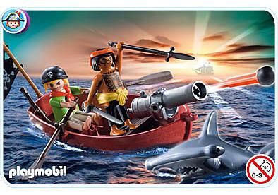 5137-A Piraten-Ruderboot mit Hammerhai detail image 1