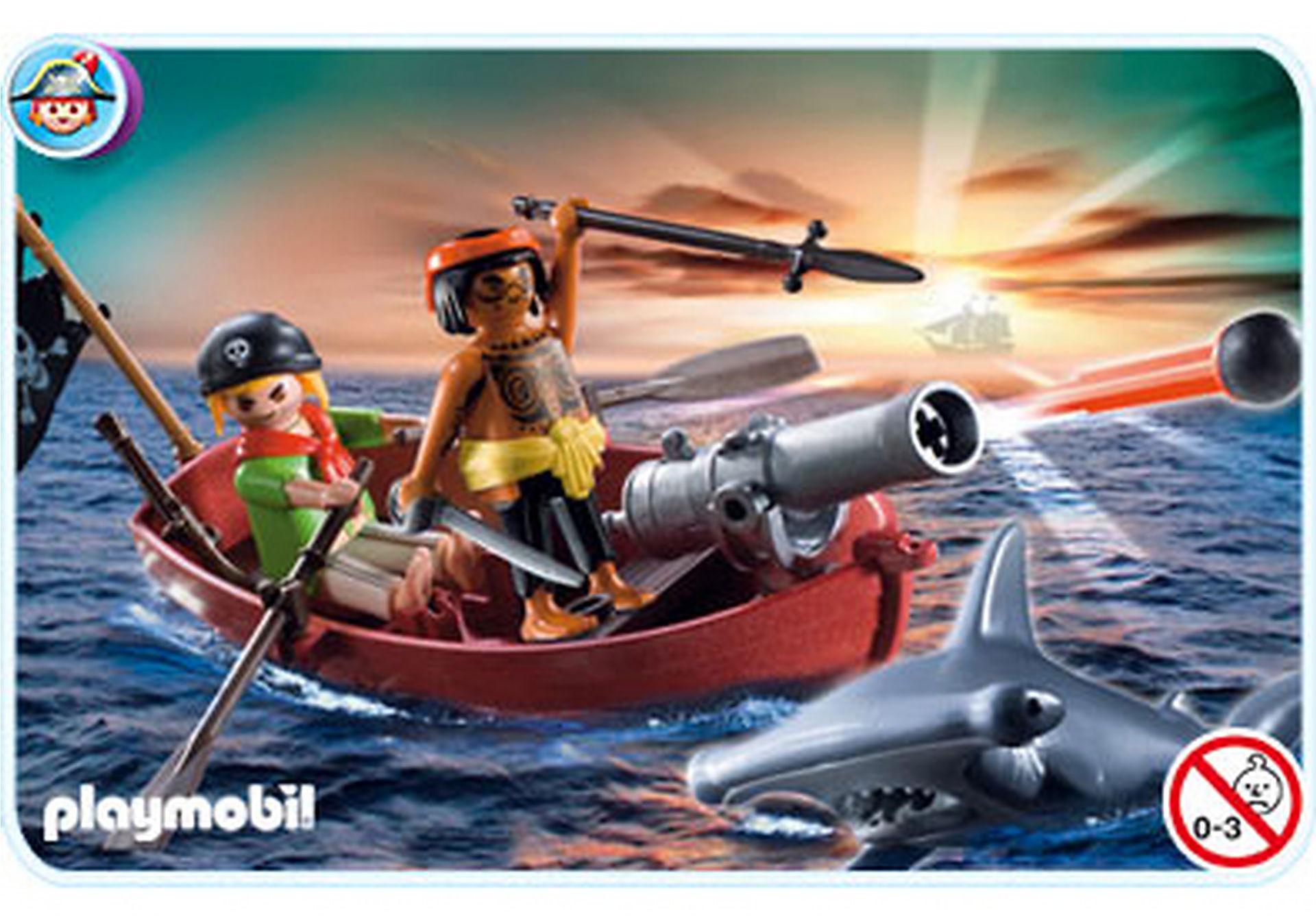 5137-A Piraten-Ruderboot mit Hammerhai zoom image1