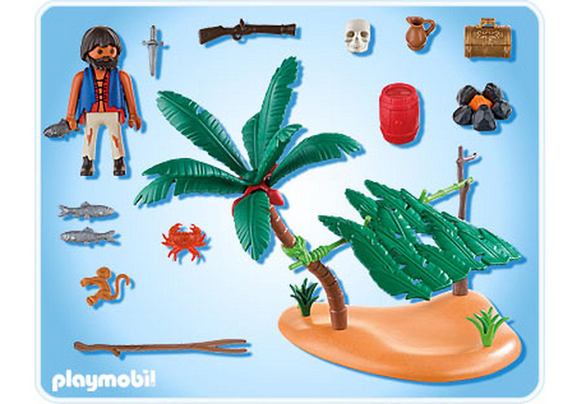 5138-A Schiffbrüchiger auf Palmeninsel zoom image2