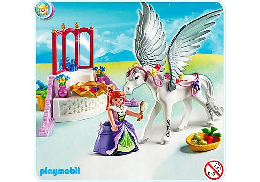 5144-A Pegasus mit Schmück-Ecke detail image 1