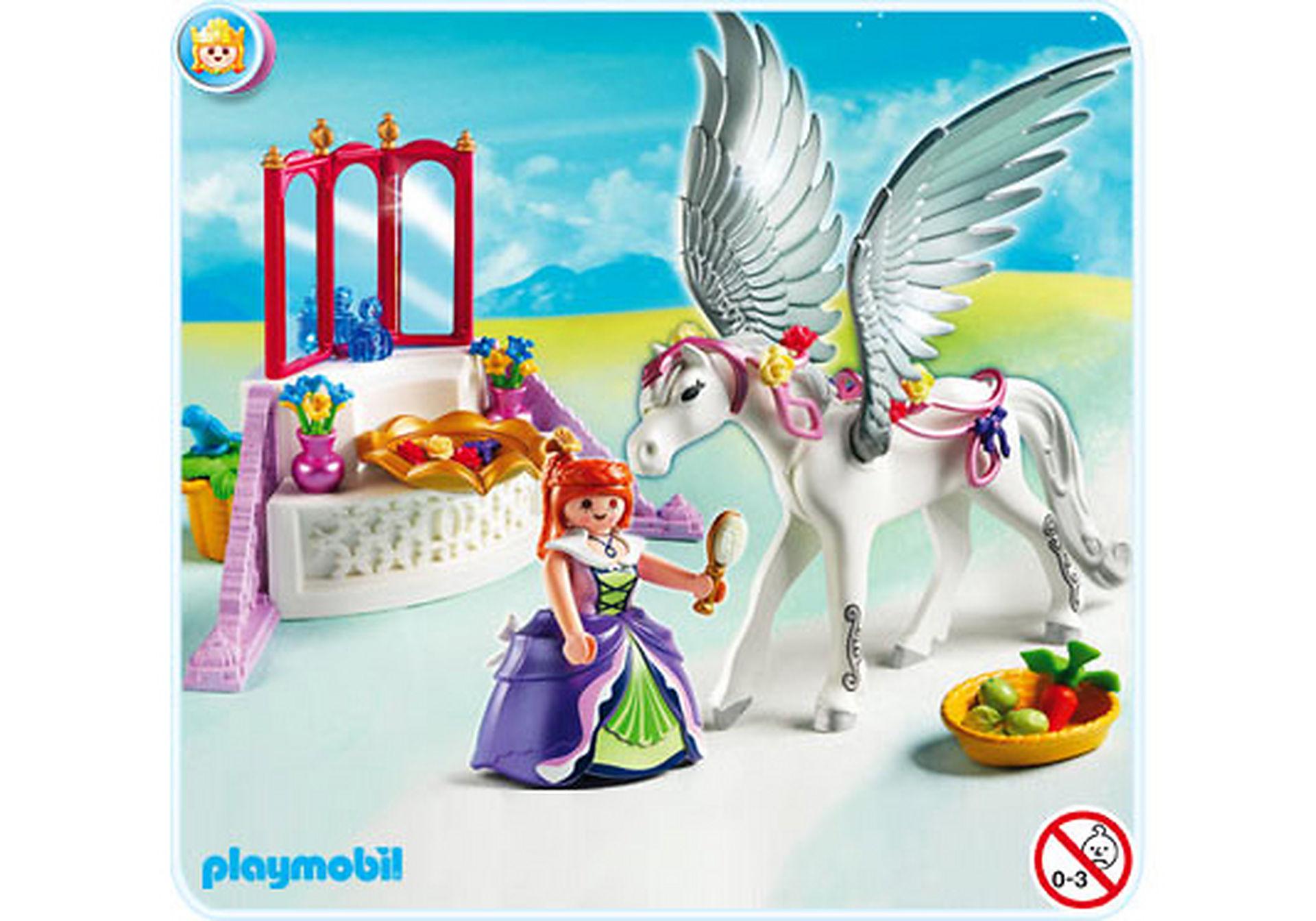 5144-A Pegasus mit Schmück-Ecke zoom image1