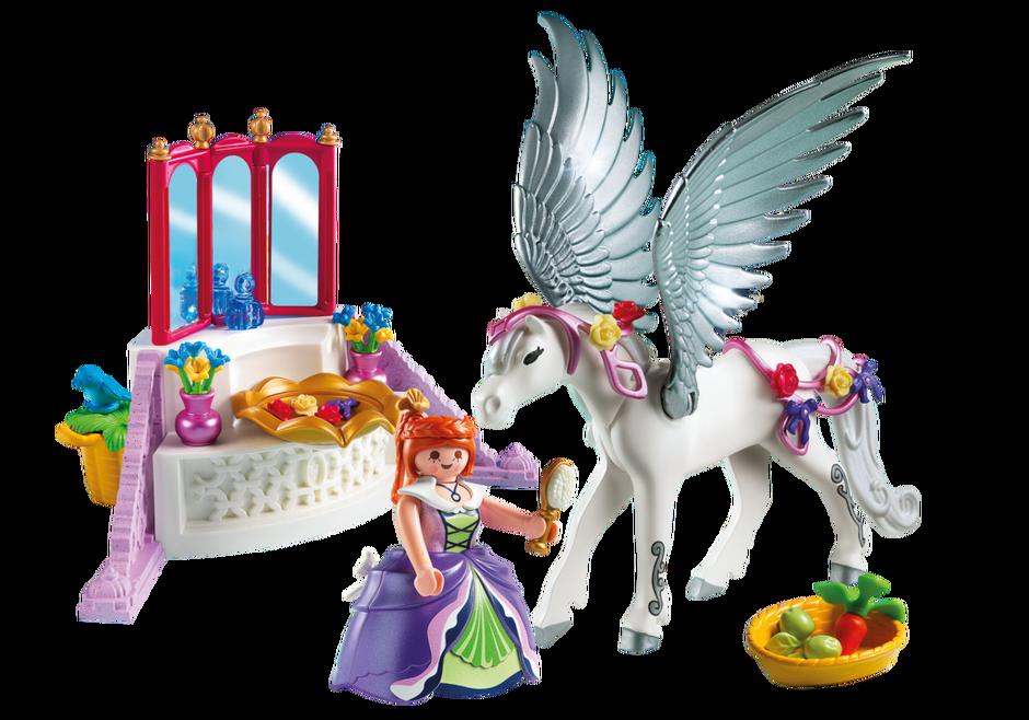 Pegasus With Princess And Vanity 5144 Playmobil Usa