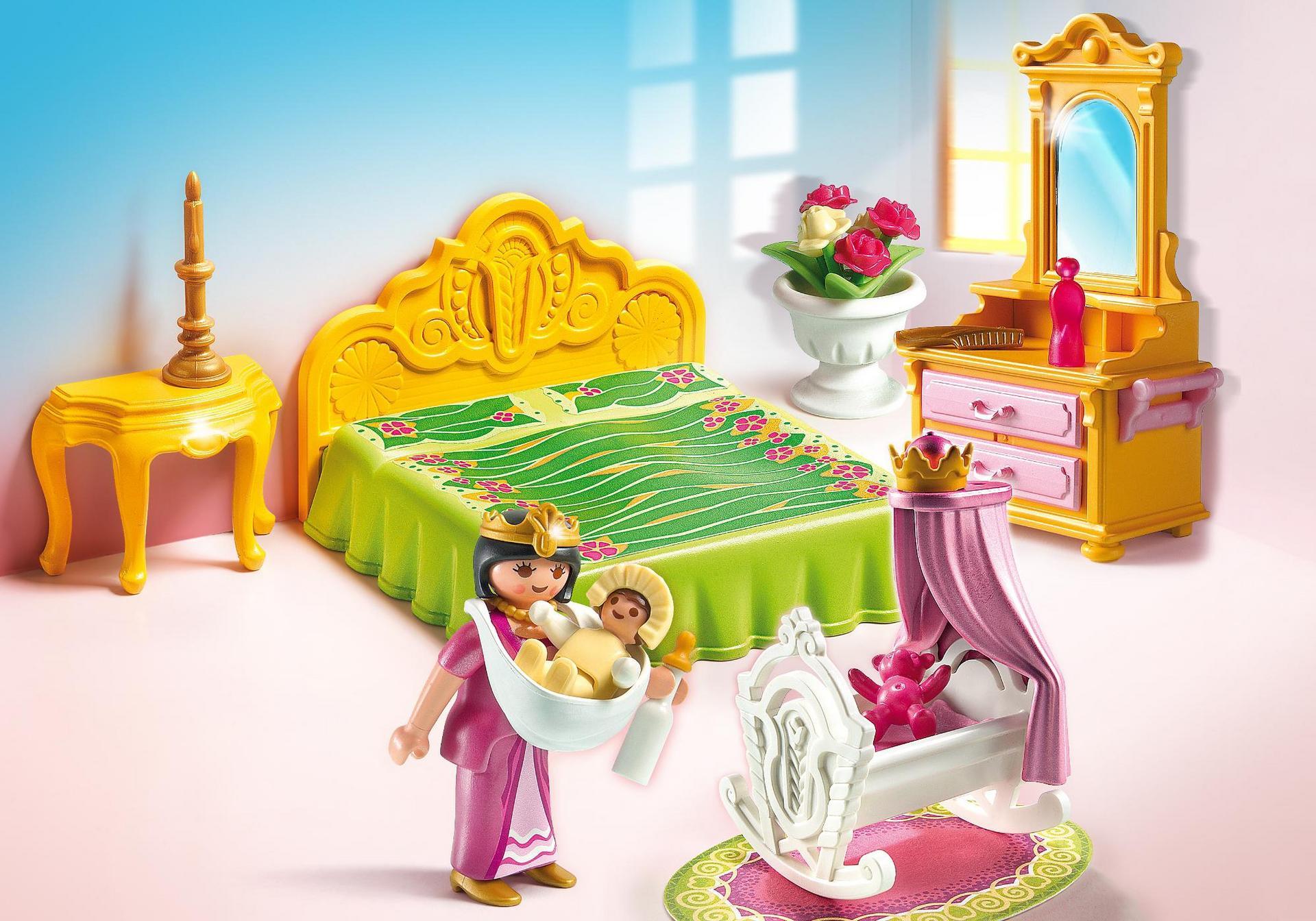 Chambre de la reine avec berceau 5146 playmobil france for Chambre de la reine