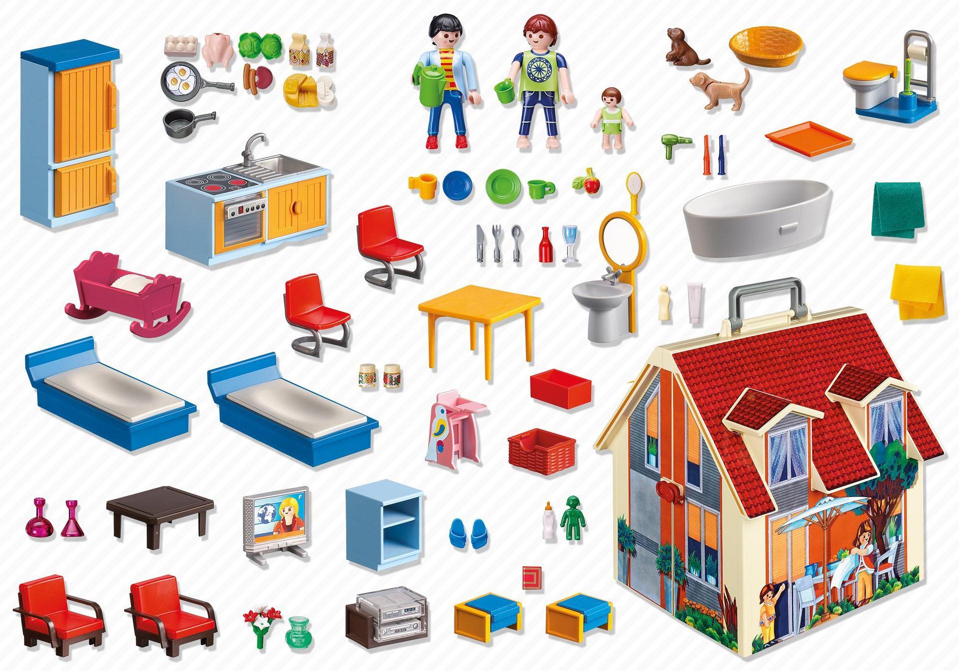 Take Along Modern Doll House - 5167 - PLAYMOBIL® USA