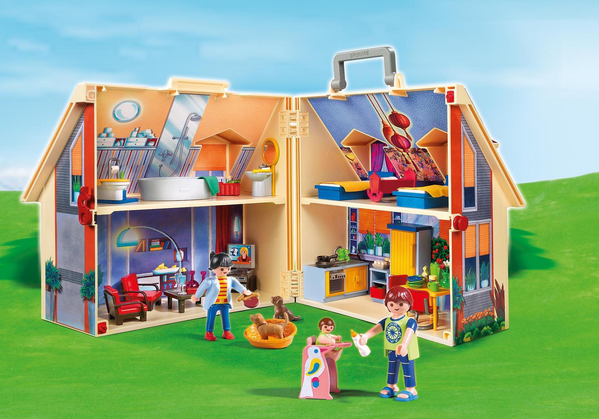 Casa de mu ecas malet n 5167 playmobil espa a - Gran casa de munecas playmobil ...