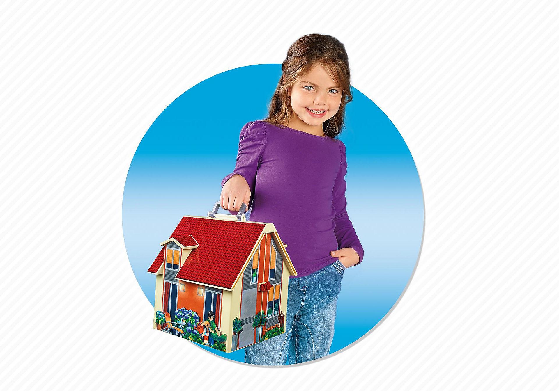 5167 Nowy przenośny domek dla lalek zoom image5