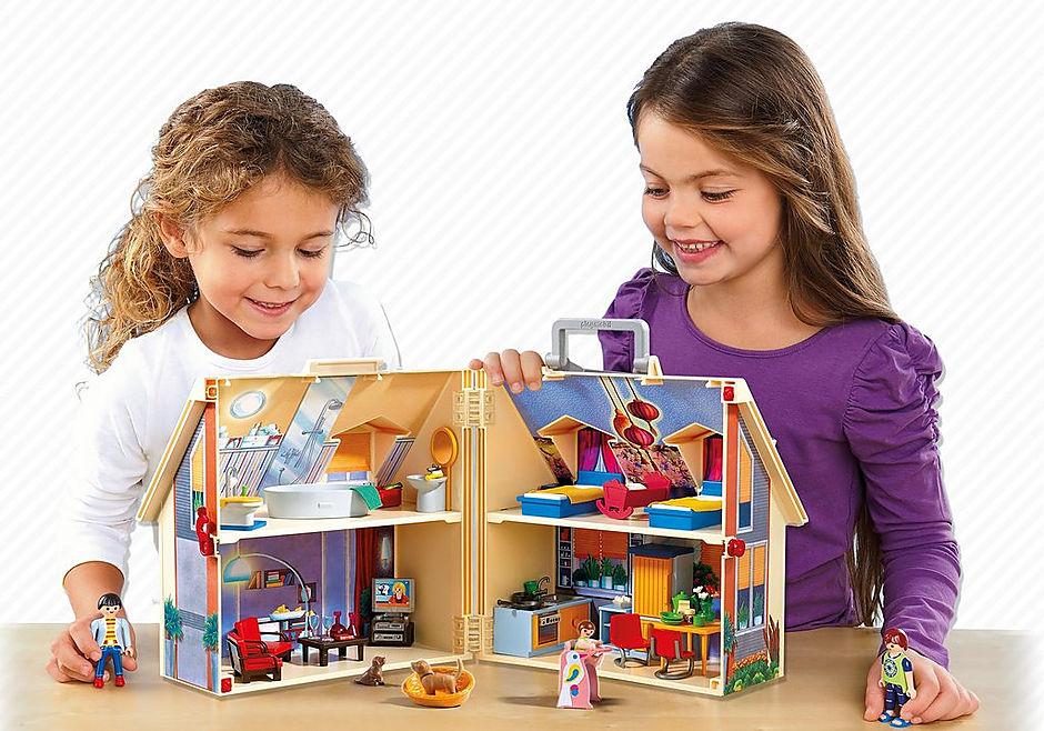 5167 Nowy przenośny domek dla lalek detail image 6