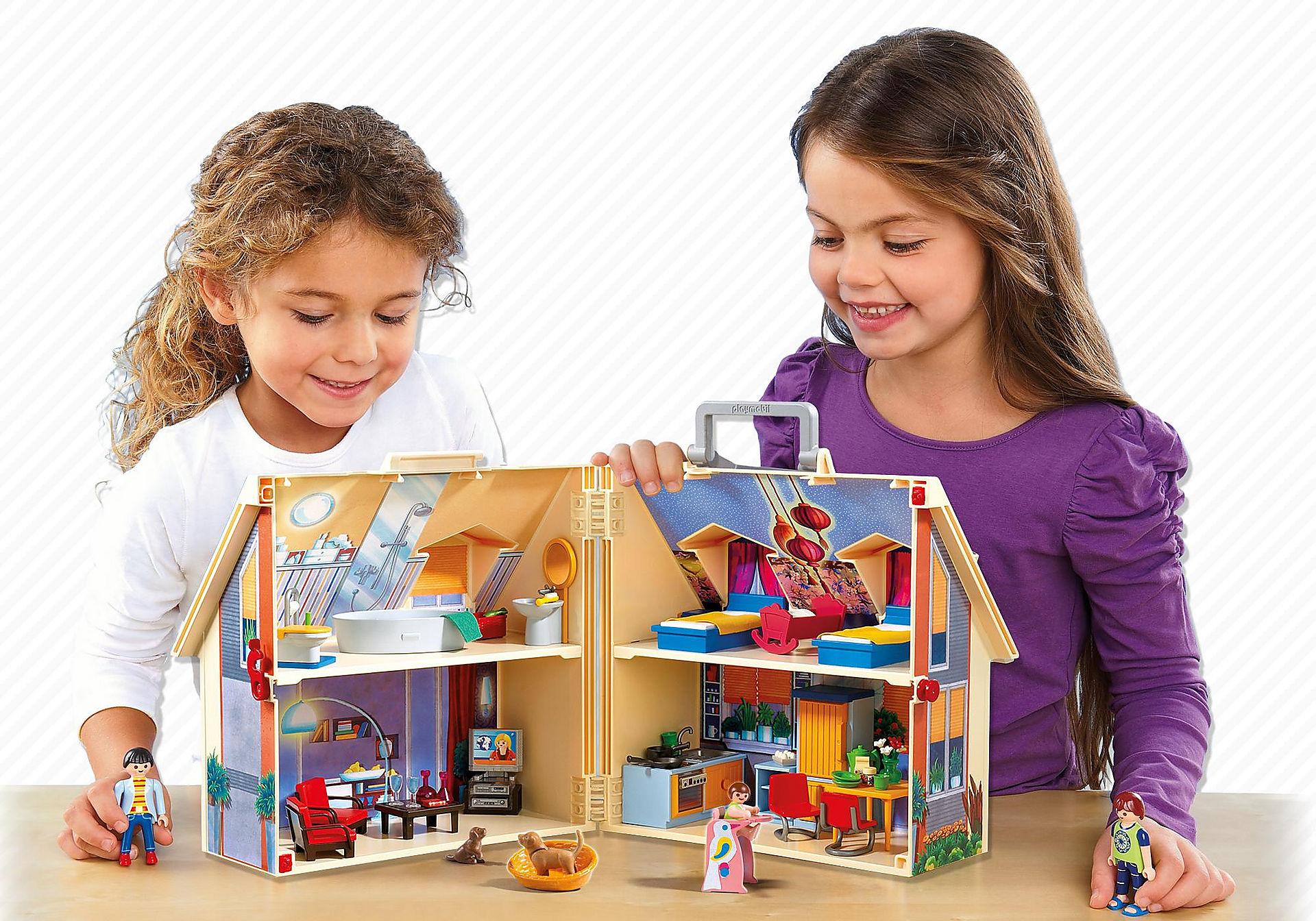 5167 Nowy przenośny domek dla lalek zoom image6