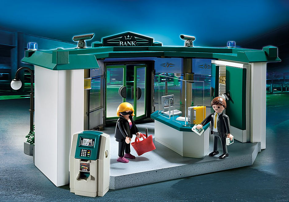 5177-A Bank mit Geldautomat detail image 1