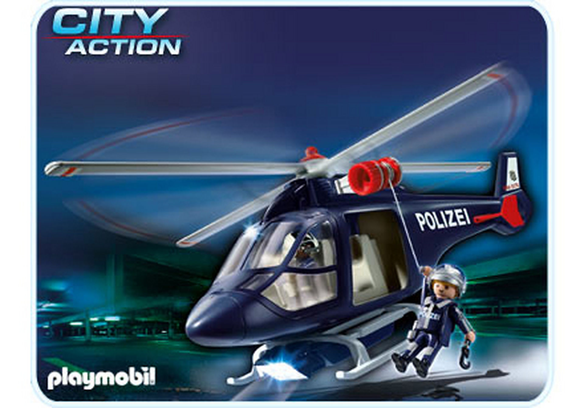 5178-A Polizeihubschrauber mit LED-Suchscheinwerfer zoom image1