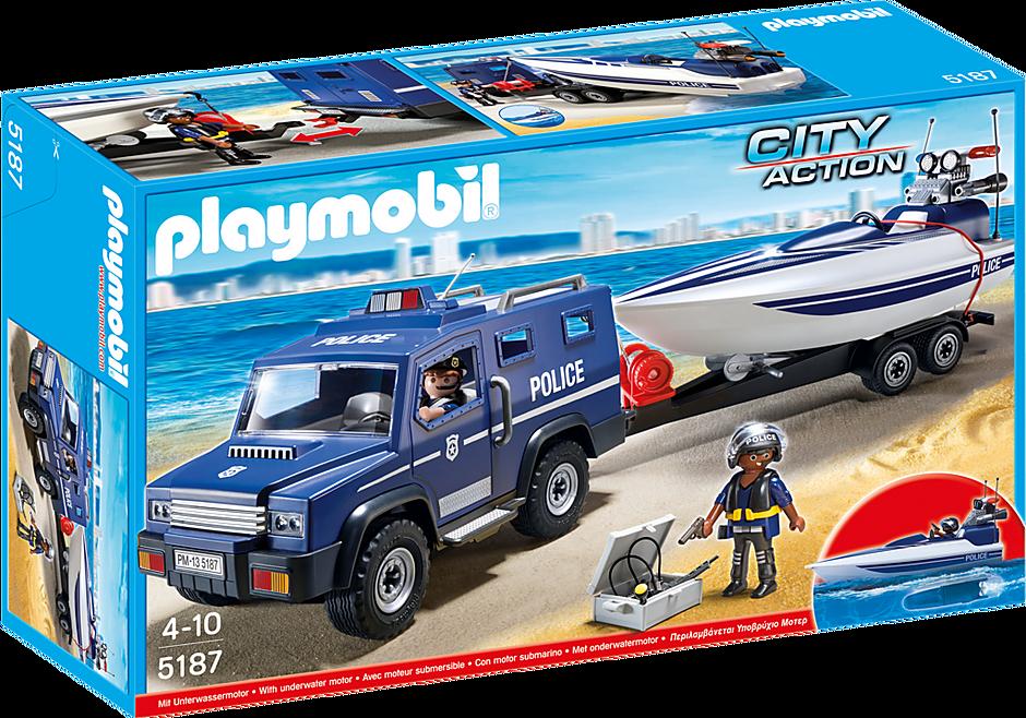 5187 Politieterreinwagen met speedboot detail image 2
