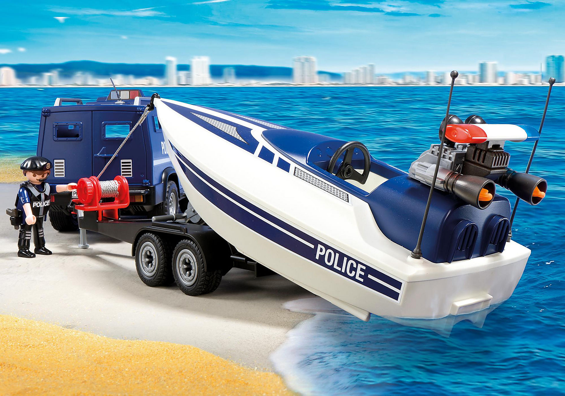 5187 Police Truck with Speedboat zoom image4