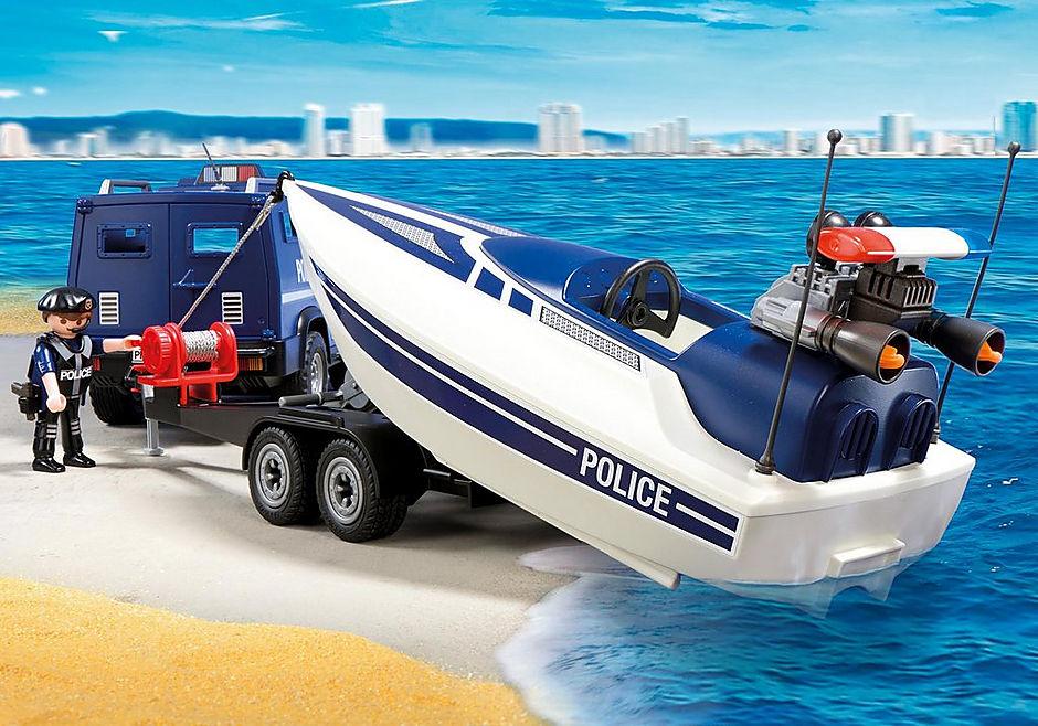 5187 Politieterreinwagen met speedboot detail image 4