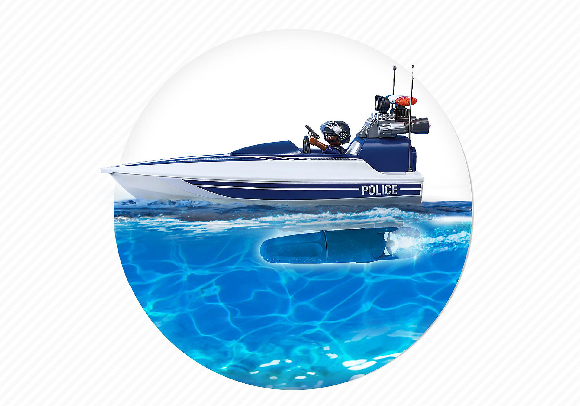 5187 Police Truck with Speedboat zoom image7