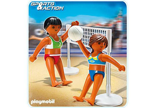 5188-A Beachvolleyball mit Netz detail image 1