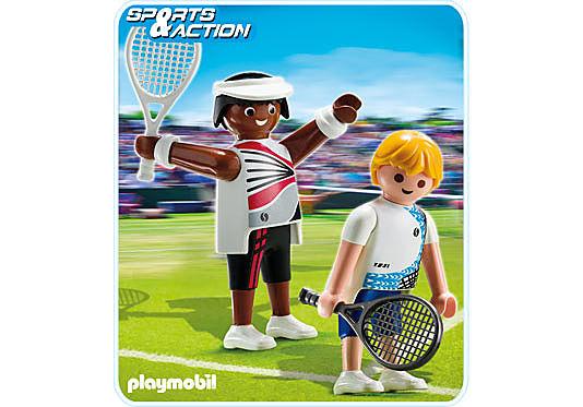 5196-A 2 Tennisspieler detail image 1