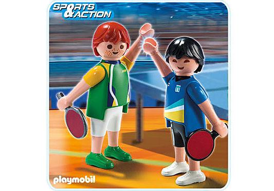 5197-A 2 Tischtennisspieler detail image 1