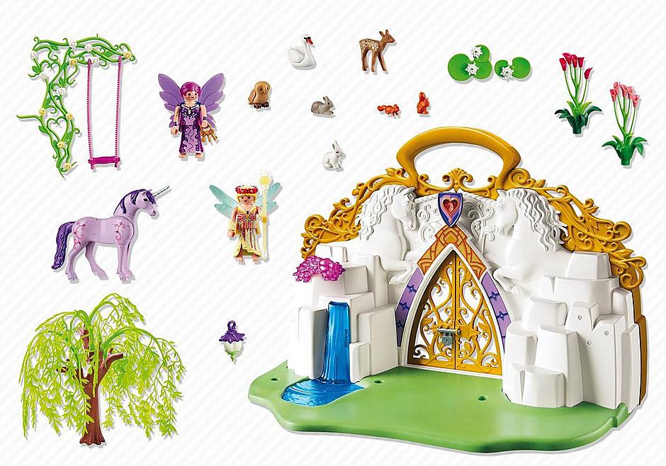5208 Eénhoornkoffer met magisch sprookjesland detail image 3