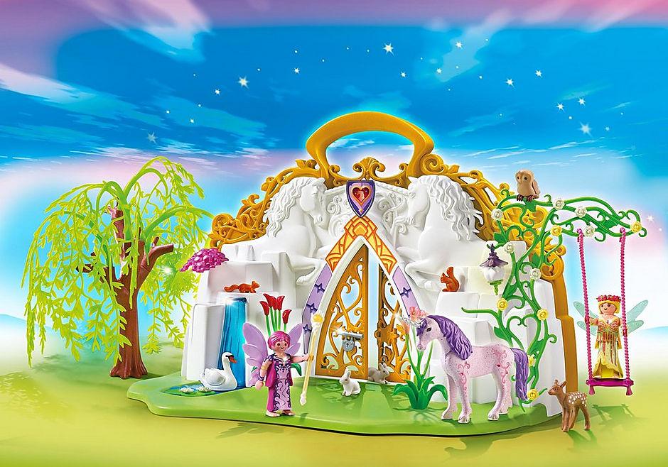 5208 Eénhoornkoffer met magisch sprookjesland detail image 1