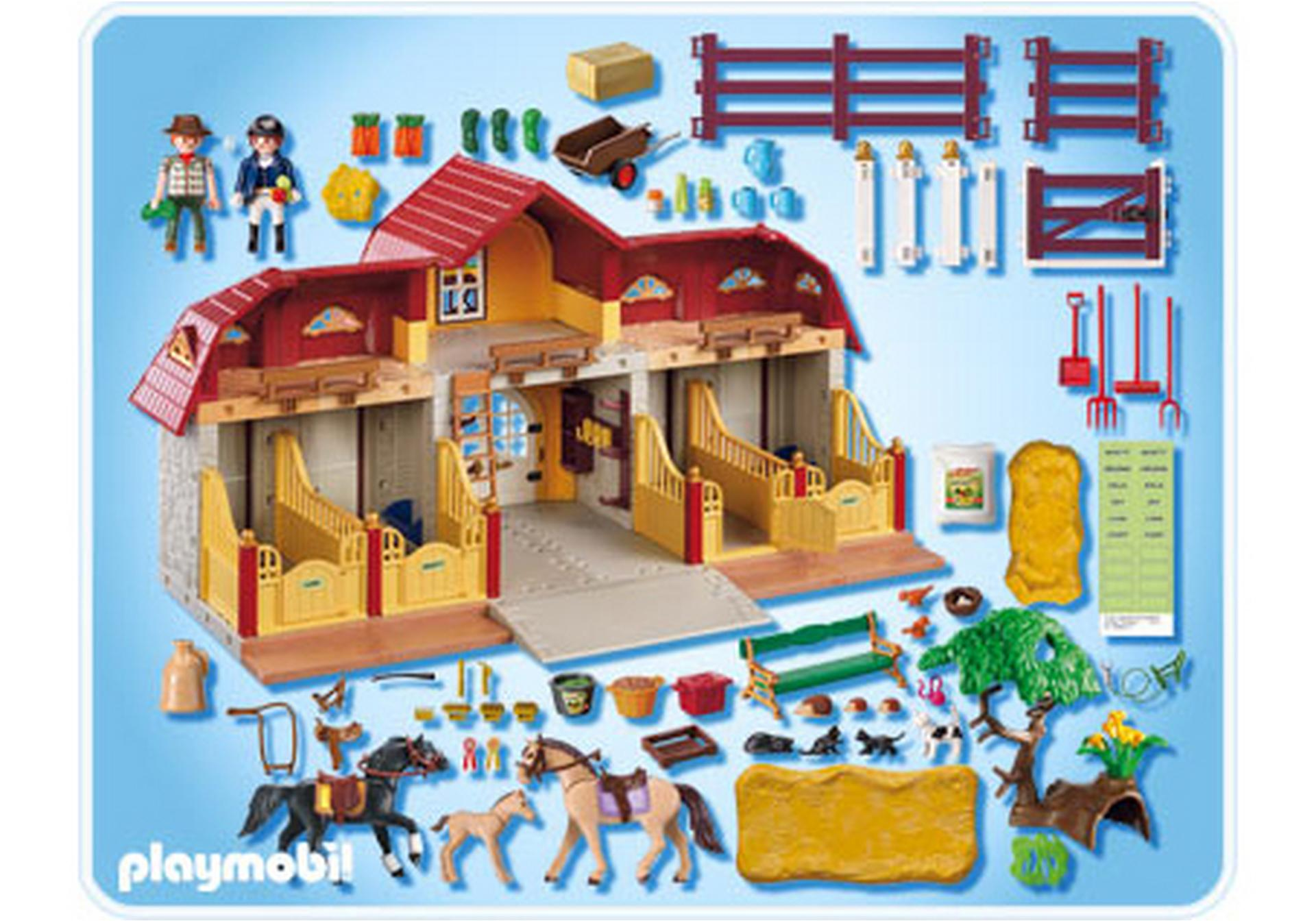 gro er reiterhof mit paddocks 5221 a playmobil. Black Bedroom Furniture Sets. Home Design Ideas
