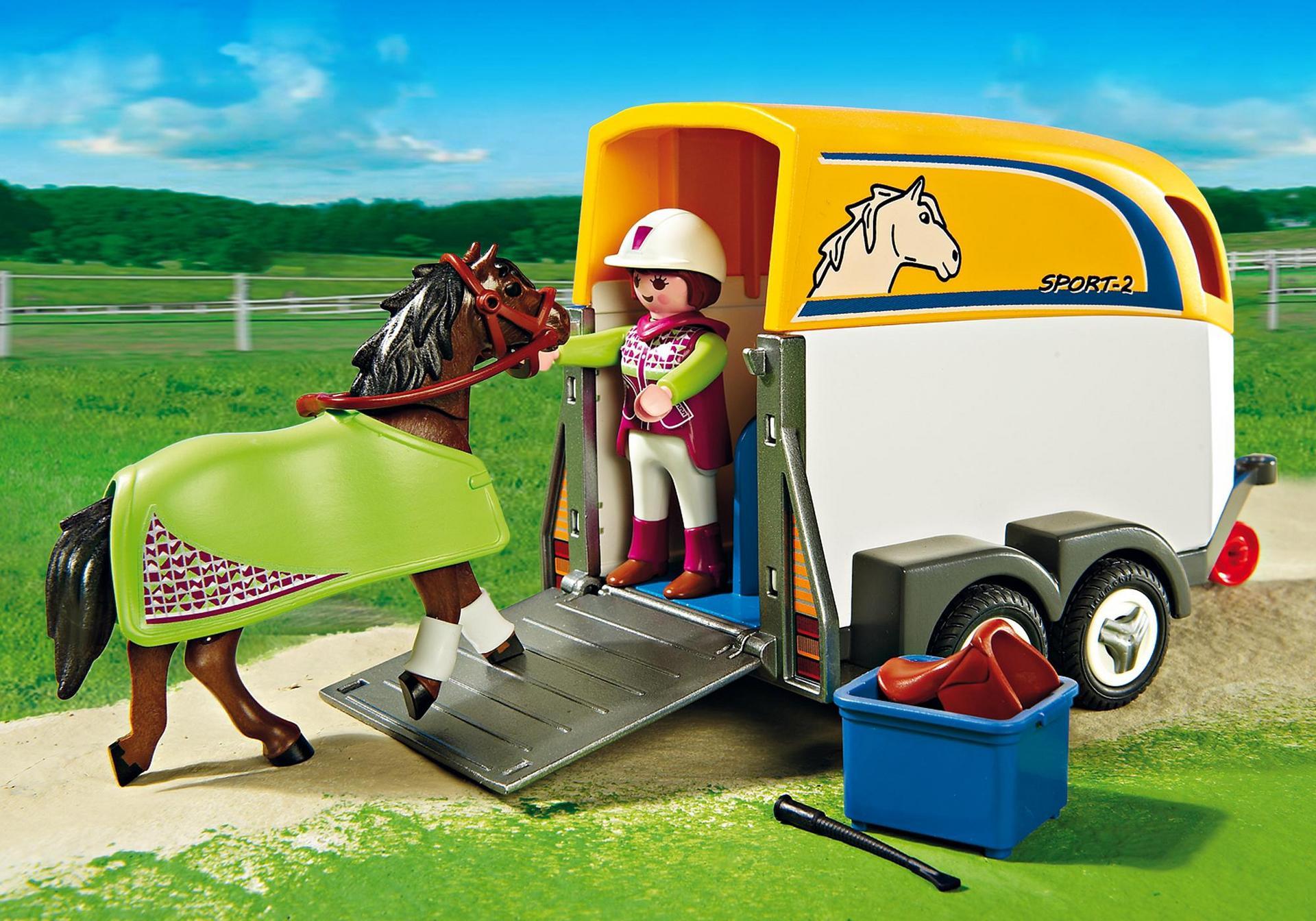 Suv With Horse Trailer Playmobil United Kingdom