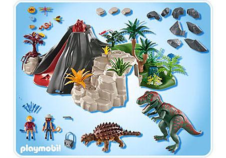 5230-A T-Rex und Saichania beim Vulkan detail image 2