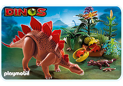 5232-A Stegosaurus mit Nest detail image 1