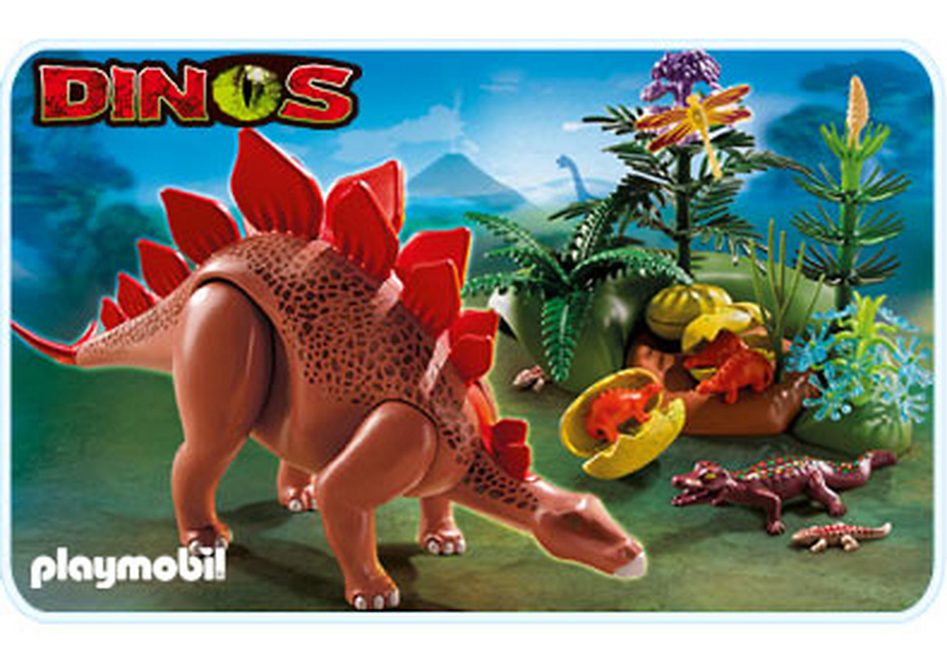 5232-A Stegosaurus mit Nest zoom image1