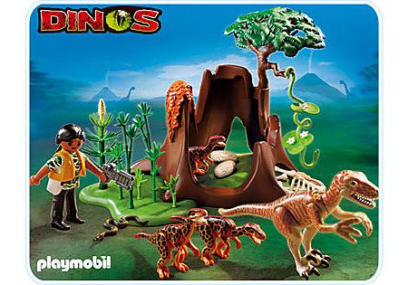 5233-A Velociraptor-Angriff auf Deinonychusnest detail image 1