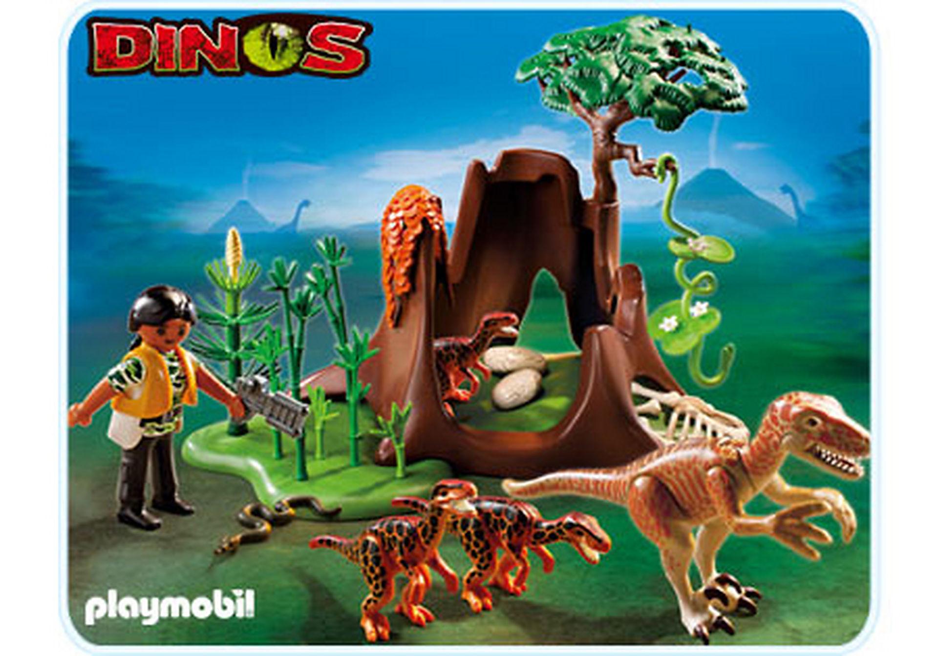 5233-A Velociraptor-Angriff auf Deinonychusnest zoom image1