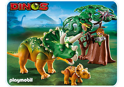 5234-A Triceratops mit Baby detail image 1