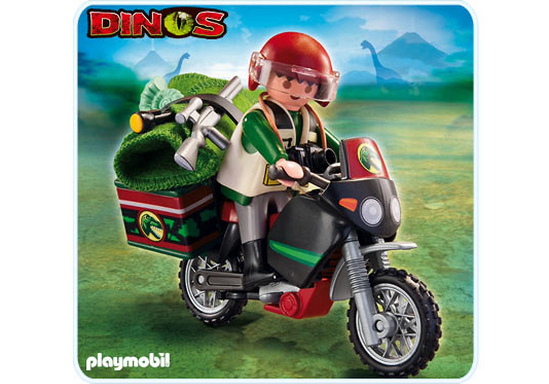 5237-A Dinoforscher mit Geländemaschine zoom image1