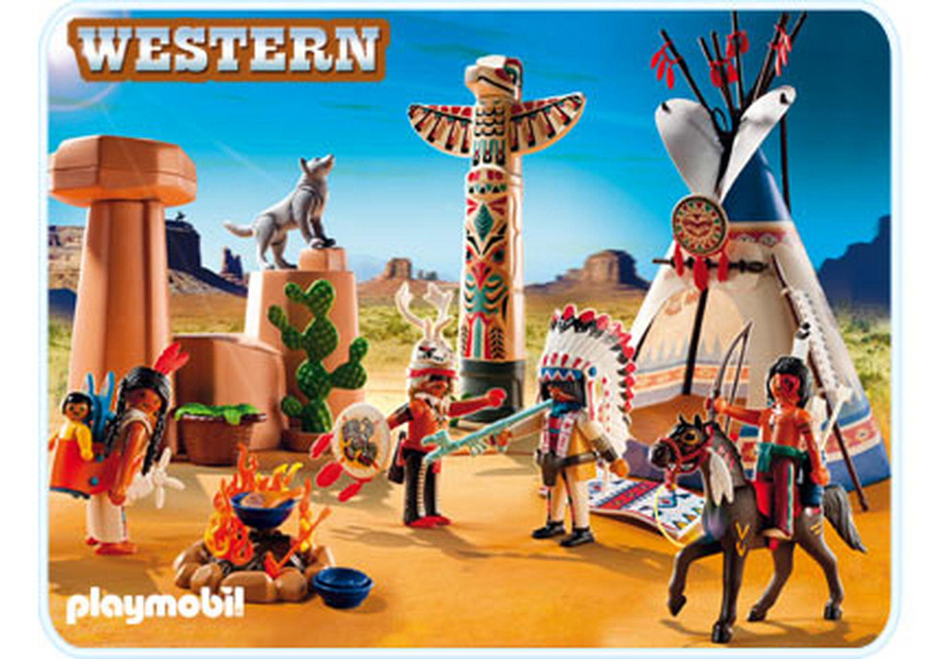 indianercamp mit totempfahl 5247 a playmobil deutschland. Black Bedroom Furniture Sets. Home Design Ideas