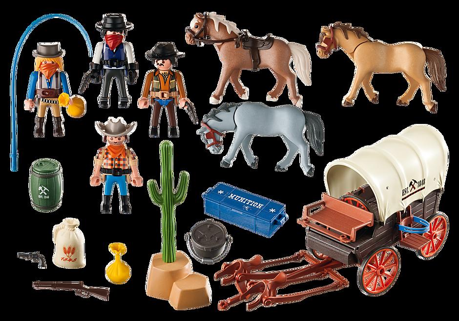5248 Chariot avec cow-boys et bandits detail image 3