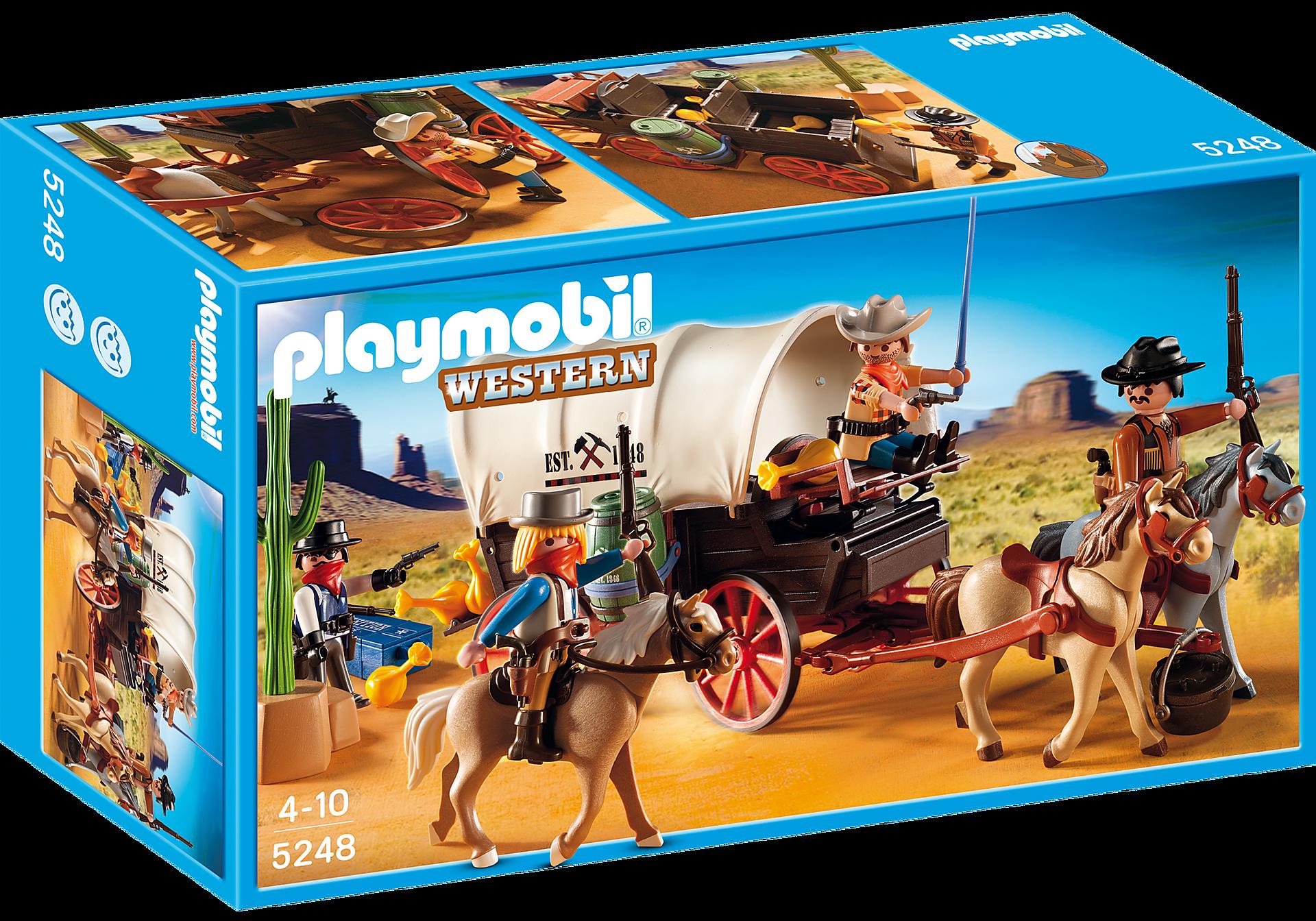 5248 Chariot avec cow-boys et bandits zoom image2