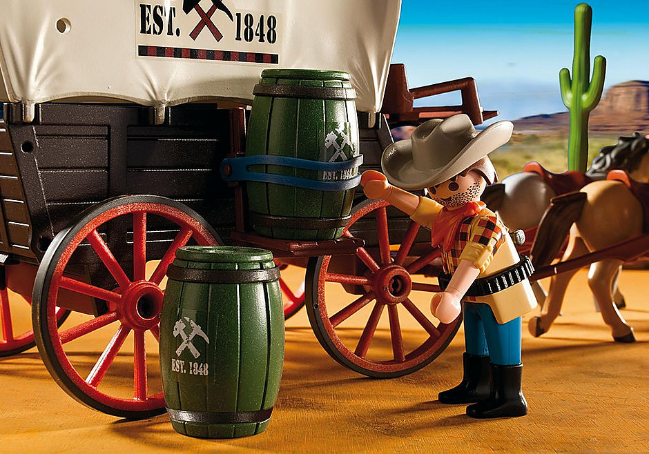 5248 Covered Wagon with Raiders detail image 4