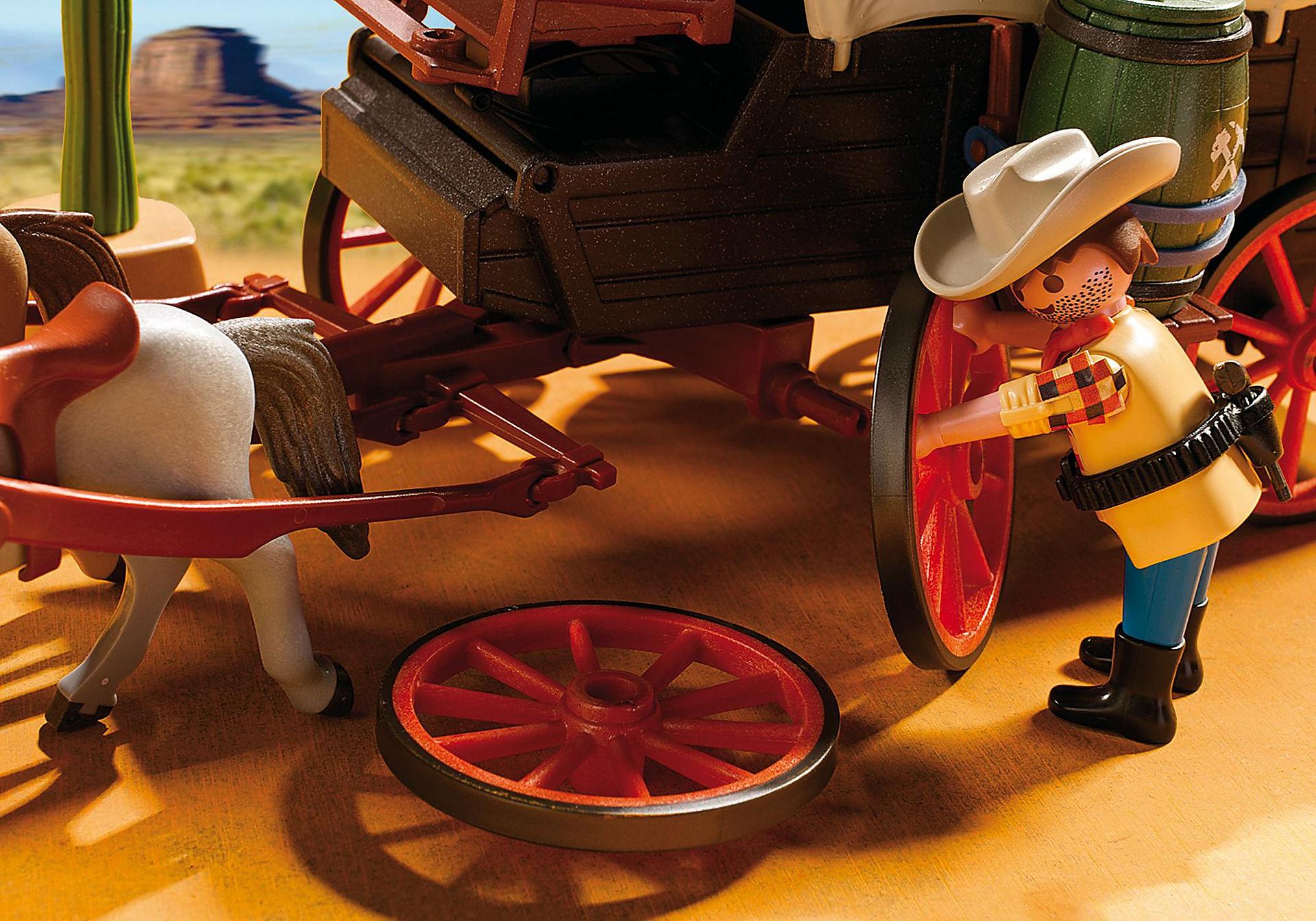 5248 Chariot avec cow-boys et bandits zoom image5